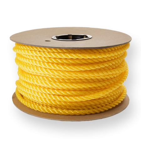 Polypropylene 3-Strand Z Twisted Ropes For Industry (3-40mm)